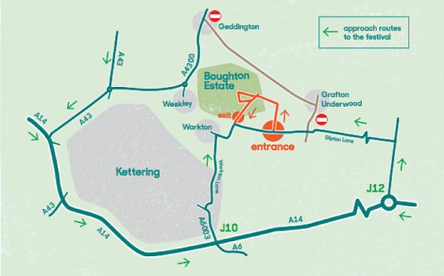 Routes to Boughton