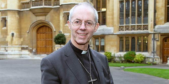 The Michael Ramsey prize – to be presented by Archbishop Justin Welby at Greenbelt 2016